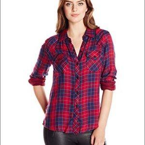 Rails Plaid 100% Rayon shirt